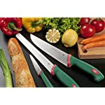 """Sanelli Premana Professional Bread Knife, 24cm/9.44"""", Green 4 The exclusive ergonomic handle design is the result of special studies carried out at qualified University Institutes to ensure the best balance and grip The handle is perfectly balanced with the blade; Semi-rigid serrated knife, for slicing bread, cakes, pizza The material used is non-toxic and complies with the European rules; Made in Italy"""