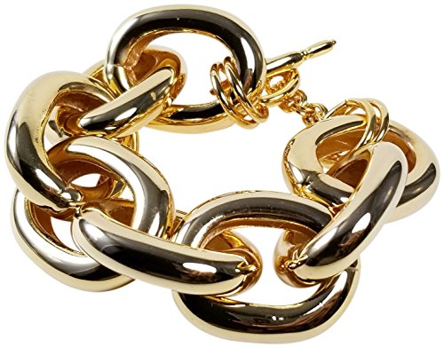 Kenneth Jay Lane Polished Link Bracelet - Gold ()