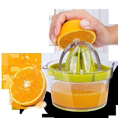 (Maikouhai Manual Juicer, Plastic Mini Portable Hand Handmade Fruit Lemon Lime Orange Citrus Press Extractor Squeezer Juice Cup - 14.9x13x18cm)