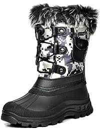 Little Kid Ksnow Black Camo Isulated Waterproof Snow Boots - 12 M US Little Kid