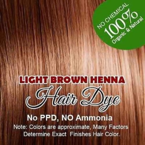 LIGHT BROWN color Henna hair: 100% Organic and Chemical Free Henna for Hair Color Hair Care 60 g.