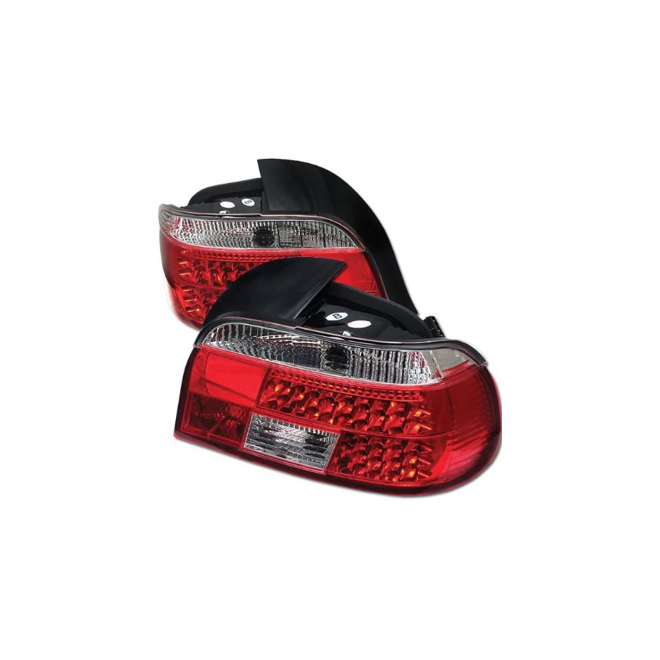 Redlines TL BE3997 LED RC Red/Clear Medium LED Tail Light for BMW E39 5 Series 97 03   Pair