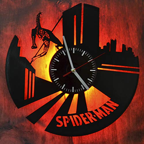 n Comics Led Light Vinyl Record Wall Clock - Get Unique Bedroom or livingroom Wall Decor - Gift Ideas for Boys and Girls Perfect Element of The Interior Unique Modern Art ()