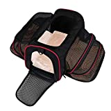Cheap LOGROTATE Cat Carrier, Airline Approved Portable Airplane Pet Dog Carrier Soft Double Sided Expandable Travel Carriers Bag for Dogs Cats Kittens Puppies & Small and Medium Animals