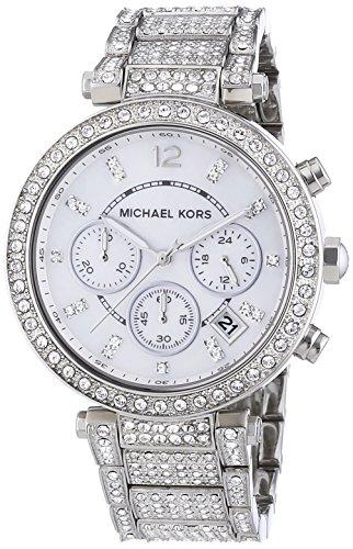 Michael Kors Women's 'Parker' Silver Super Glitz Watch – MK5572