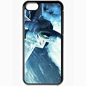 Personalized iPhone 5C Cell phone Case/Cover Skin Ace Combat Fighter Clouds Fuselage Sunlight Black by icecream design