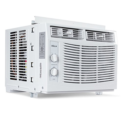 DELLA 5,000 BTU Window-Mounted Air Conditioner AC Unit Cool 115-Volt 150 SQ FT Energy Saving with Mechanical Controls - Directional Vent Kit