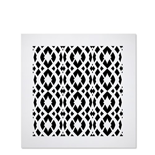 Saba Air Vent Cover Grille - Acrylic Fiberglass 10'' x 10'' Duct Opening (12'' x 12'' Overall) White Finish Decorative Register Covers for Walls and Ceilings NOT for Floor USE, Charlotte by SABA Home Decor