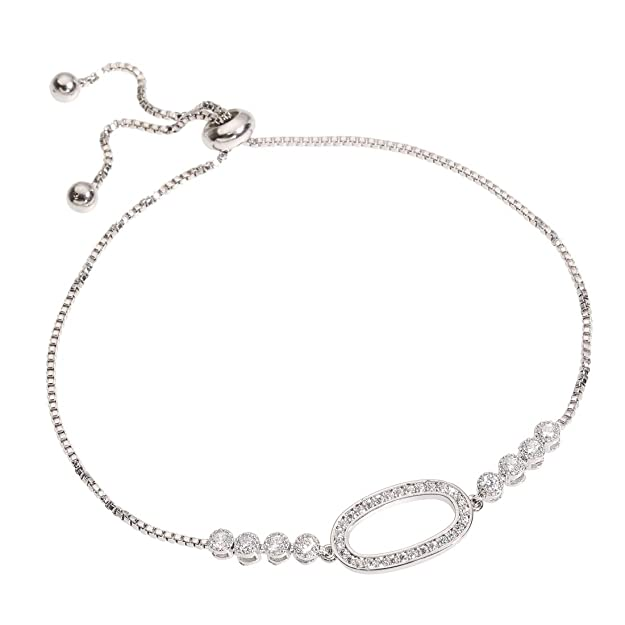 YOMEGO Charming Bracelet with 14K Real Gold Plating Stretchable Chain Fashion Bracelet in Rose Gold and Silver,Idea of Gift for Women and Girls