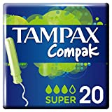 Tampax Compak Applicator Tampons Super (20)