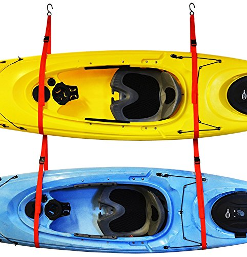 SlingTwo Double Kayak Storage System, Wall or Ceiling Installation by Malone
