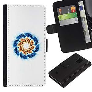 NEECELL GIFT forCITY // Billetera de cuero Caso Cubierta de protección Carcasa / Leather Wallet Case for Samsung Galaxy S5 Mini, SM-G800 // Apertura Remolino