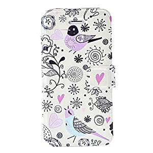 Fashion Small Fresh Cartoon Pattern Leather Case with Holder & Card Slots for iPhone 5C