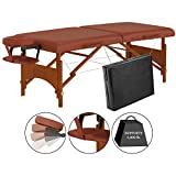 "Master Massage 25"" Fairlane Sport Size Portable Massage Table, Cinnamon,Perfect Fit for on-the-go Professionals"