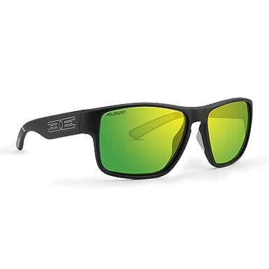 ab08a8030a4 Epoch Charlie Sunglasses Black Frame Polarized Green Mirror  Super-Hydrophobic Lens