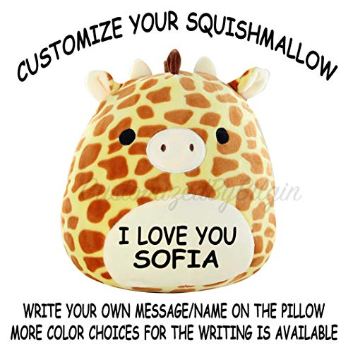 - Squishmallow Customized Original Kellytoy Gary The Giraffe 12