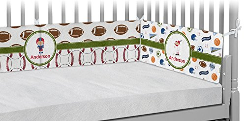 Sports Crib Bumper Pads (Personalized) by RNK Shops