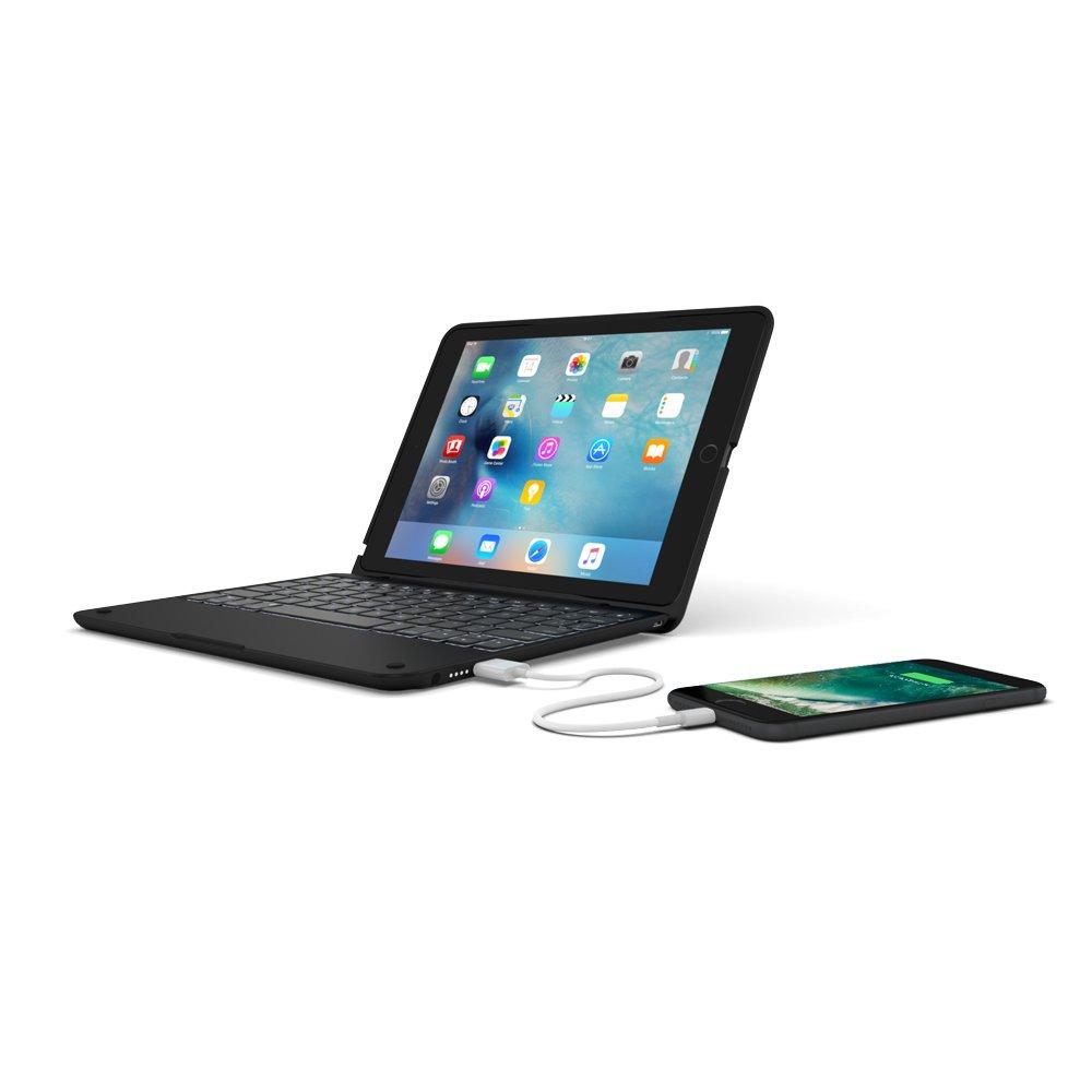 Clamcase+ Power for iPad Pro 9.7, Incipio Clamcase+ Power Backlit Keyboard with Power Bank for iPad Pro 9.7 - Black by Incipio