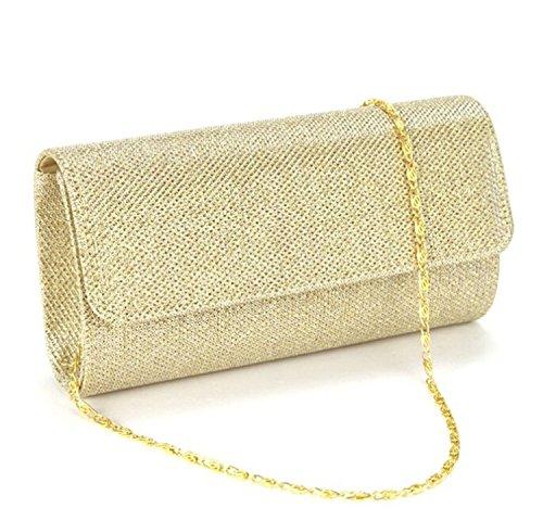 Gyeitee 3-in-1 Women Glitter Evening Clutch Bag, Party Spark Handbag Small Clutch Bag Bridal Purse Wedding Bag(Gold) … by Gyeitee