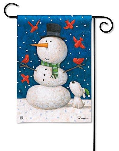 Studio M Christmas Outdoor Garden Flag Snowman - Winter Pals