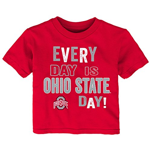 - Gen 2 NCAA Ohio State Buckeyes Infant Everyday Short Sleeve Tee, 24 Months, Red