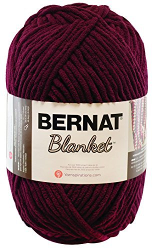 Bernat Small Polyester Blanket Big Ball of Yarn, Purple Plum