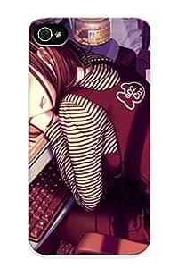 For Iphone 4/4s Protective Case, High Quality For Iphone 4/4s Women Room Sayori Neko Works Anime Girls Oekaki Musume Wacom Skin Case Cover by ruishername