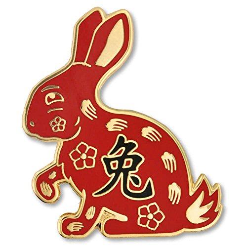 PinMart Chinese Zodiac Year of The Rabbit New Year Enamel Lapel Pin