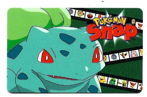 Bulbasaur Pokemon Snap Nintendo Blockbuster Video Game Smart Card