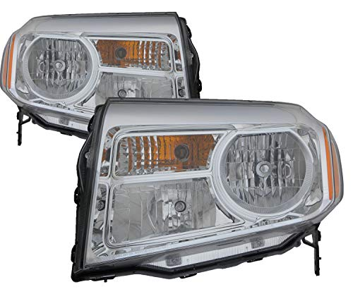 - For 2012 2013 2014 2015 Honda Pilot Headlight Headlamp Assembly Driver Left and Passenger Right Side Pair Set Replacement HO2502147 HO2503147