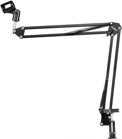 alneo Essentials brazo de micrófono de mesa con pinza para mesa ...