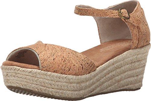 Toms Women's Platform Cork Glitz Casual Shoe 8.5 Women US