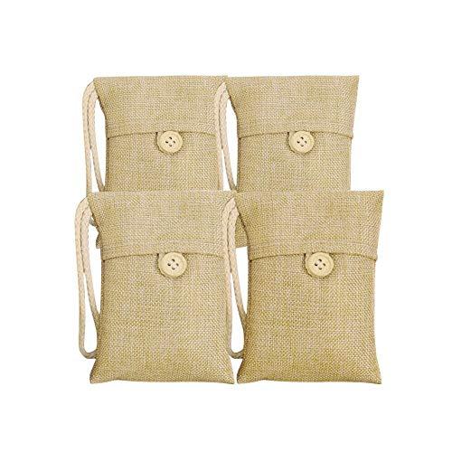 1Pcs – 5pcs Bag Car Bamboo Charcoal Activated Carbon Air Freshener Odor Deodorant (Beige 1)