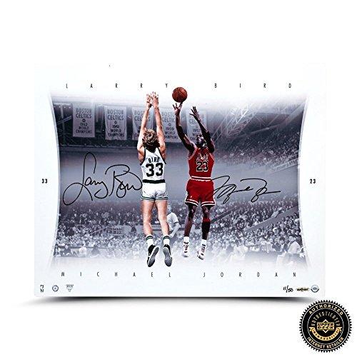 Michael Jordan & Larry Bird Autographed/Signed