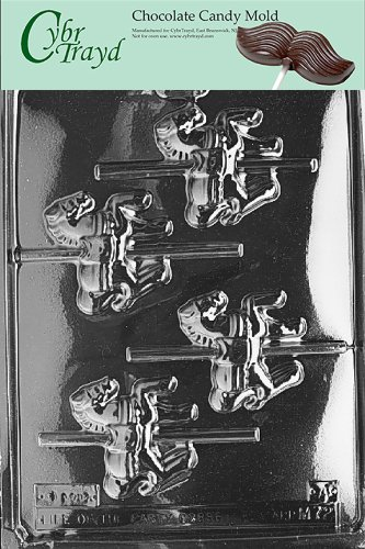 Cybrtrayd M072A Carousel-Horses Chocolate Candy Mold with Exclusive Cybrtrayd Copyrighted Chocolate Molding Instructions