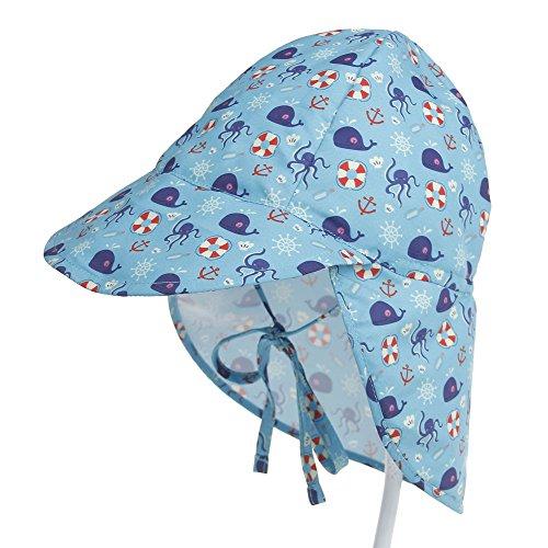 - Newborn Baby Sun Print Sun Hat, Outdoor Sunshade Hat, Quick Dry Breathable Cap (6-18 M, Octopus)
