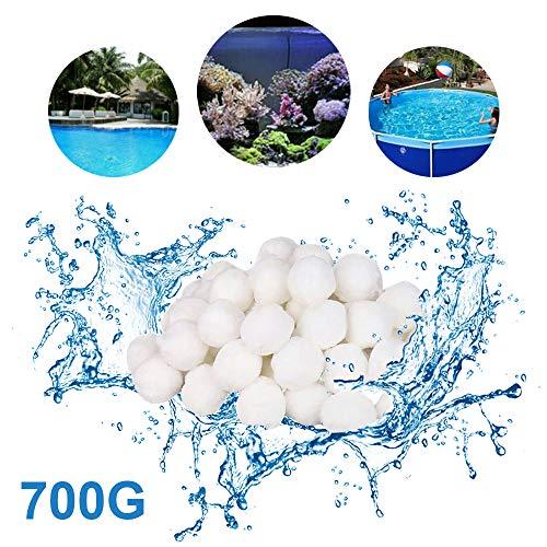 Filter Fiber - Hbitsae Pool Filter Balls Fiber Media Capacity 8L Filter Media for Swimming Pool Aquarium Filters Alternative to Sand(1.5 Lbs Filter Ball is Equivalent to 50 Lbs Filter Sand)