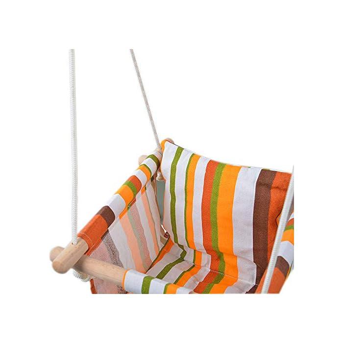 518oUAhC6pL ✅ REASEGURACIÓN - ENVUELTO: Diseñado con un estilo envolvente, construido con 4 tacos de madera lisa de alta calidad para soporte múltiple y manos que lo sostienen. Para evitar que el bebé se caiga o duela, y deja la pierna abierta para un estiramiento flexible. El bebé puede desarrollar naturalmente su equilibrio en un momento feliz de swing. ✅ CALIDAD SATISFACTORIA: Hecho de tela de lino de lino natural y duradera con un toque hipoalergénico, agradable para la piel y plano, lo que hace que no raye la piel del bebé como tienden a hacerlo las bases duras de columpio. Fresco y transpirable en los calurosos días de verano. Pero POR FAVOR, NO deje al bebé solo, independientemente de lo seguro que sea. (Este asiento de columpio de tela para bebé tiene capacidad para un bebé de 6 meses a 3 años de edad hasta 132 lb / 60 kg. ) ✅ DISEÑO CÓMODO: ❤Viene con cojines de almohada suaves y adorables que combinan para un respaldo y una sentada cómodos.❤ Viene con una cuerda ajustable en longitud, rango de 125CM a 145CM, y el cojín desmontable se siente más cómodo y seguro. Creemos que su hijo se divertirá más jugando con él.