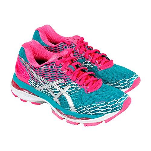 Asics Women's Gel-Nimbus 18 running Shoe, Lapis/Silver/Sp...