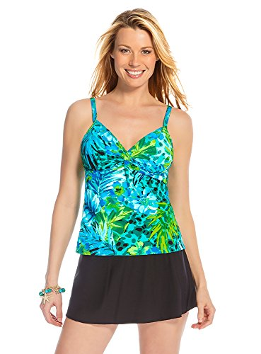 Miraclesuit Women's Junglemania Roswell Top Jade Green Swimsuit Top 8