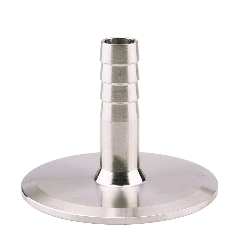 """Beduan 1.5"""" Tri Clamp to 1/2"""" Barb Fitting Stainless Sanitary Home Brew Adapter(Ferrule OD 50.5mm)"""