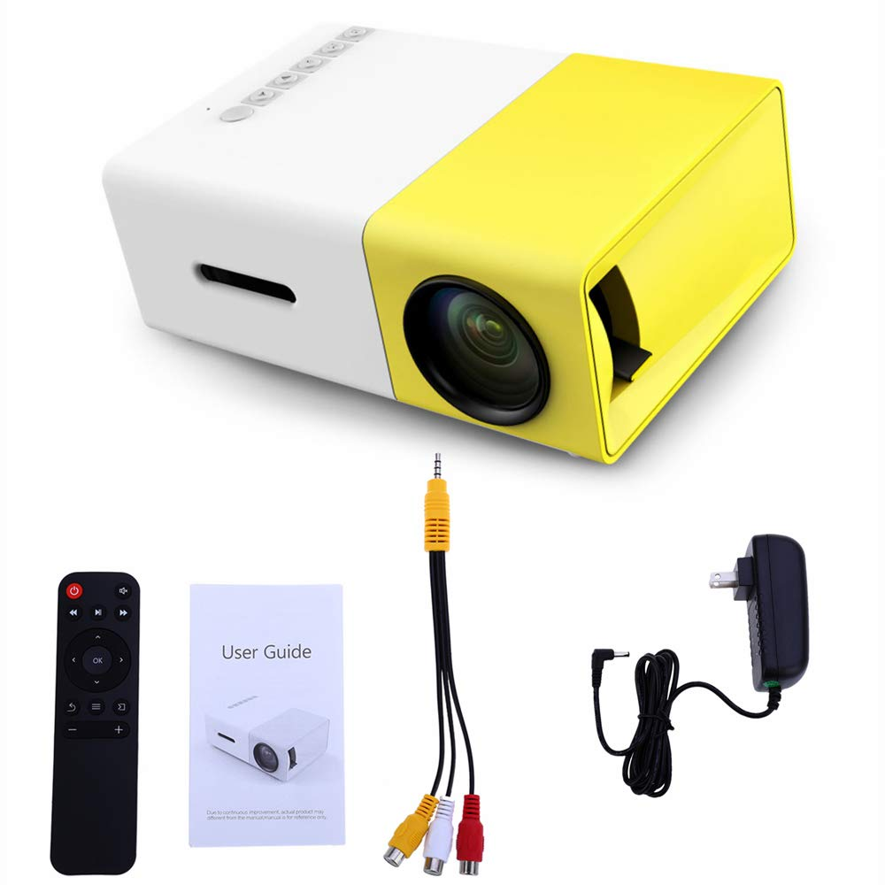 ZUEN Mini Pico Projektor LED Entertainment Tragbarer 1080 HD Projektor F/ür Home Travel Camping