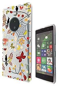 c0391–fresco divertido moda cute Kwaii mariposas aves araña Spider Web colorido floral flores Collage diseño Nokia Lumia 830Fashion Trend Case Gel de goma silicona todos los bordes protección Case Cover