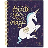 """Daisy Student Planner 2018-2019 Academic Year Daily Planner August 2018 Through July 2019 Elementary School Middle School Planner 7"""" x 9"""" - Unicorn"""