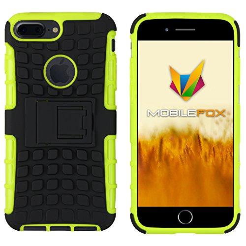 Mobilefox Safe-Grip Outdoor Case Schutzhülle 2in1 TPU Apple iPhone 7 Plus Grün