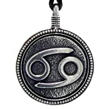 "Pewter Cancer ""The Crab"" Zodiac Sign Astrology Pendant"