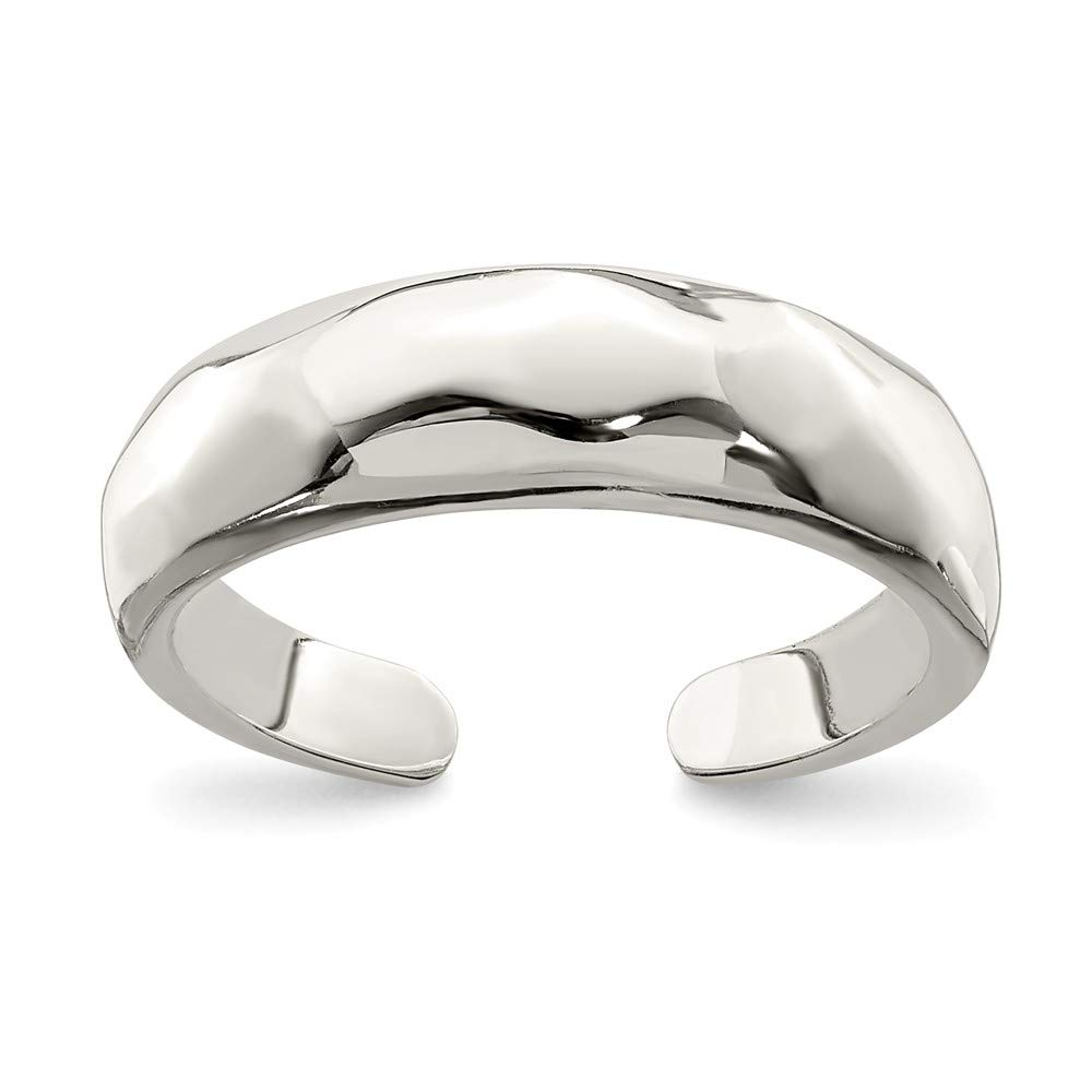 Jewels By Lux Sterling Silver Solid Polished Domed Toe Ring