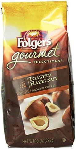 Folgers Toasted Hazelnut Flavored Ground Coffee, 10 Ounce (Hazelnut Roasted)