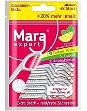 Tandreiniging met tandzijdesticks van MARA EXXPERT | tongreiniging, gewaxt tandzijde & tandenstoker in één.