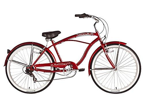 Micargi Pantera 7-speed 26 for men (Red), Beach Cruiser Bike Schwinn Nirve Firmstrong Style by Micargi B00ABXGW08